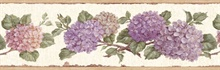 Purple Hydrangea Border