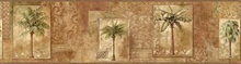 Brown Tropical Palm Trees Border