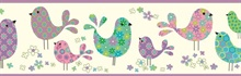 Patria Purple Calico Birdies Toss