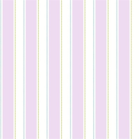 Gatsby Purple City Scape Stripe