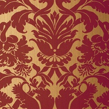 Fiorella Damask Red on Gold