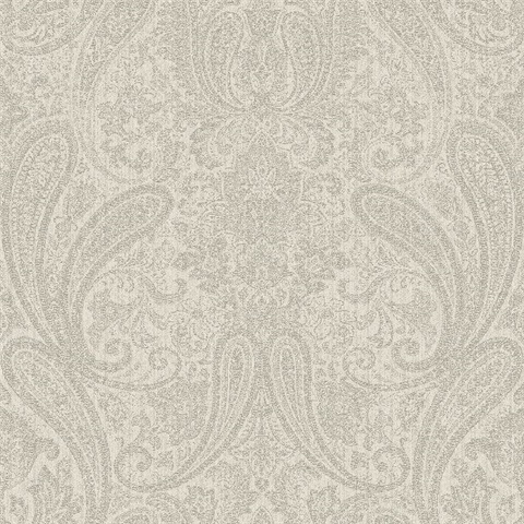 Ludlow Light Grey Paisley
