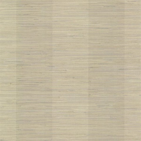 Oakland Pewter Grasscloth Stripe