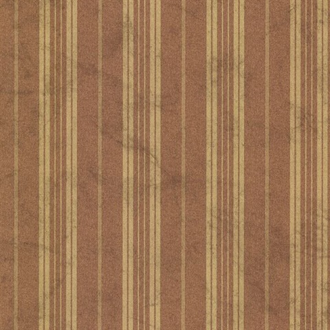 Wiscasset Burnt Sienna Farmhouse Stripe