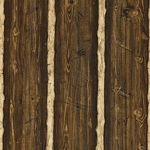 Franklin Dark Brown Rustic Pine Wood