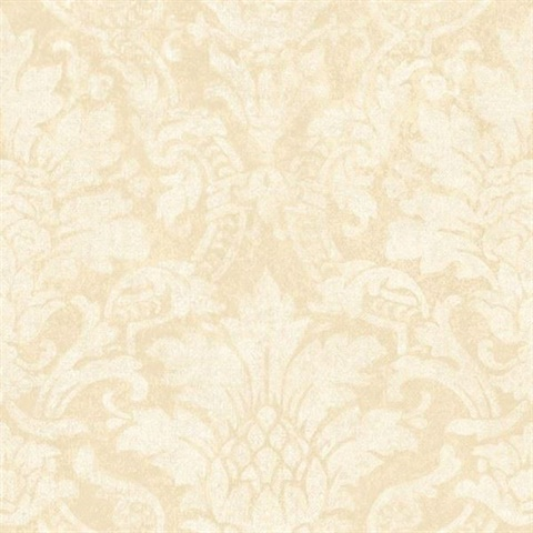 Cynthia Rose Distressed Damask Wallpaper