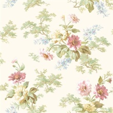 Julie Rose Floral Boquet Wallpaper
