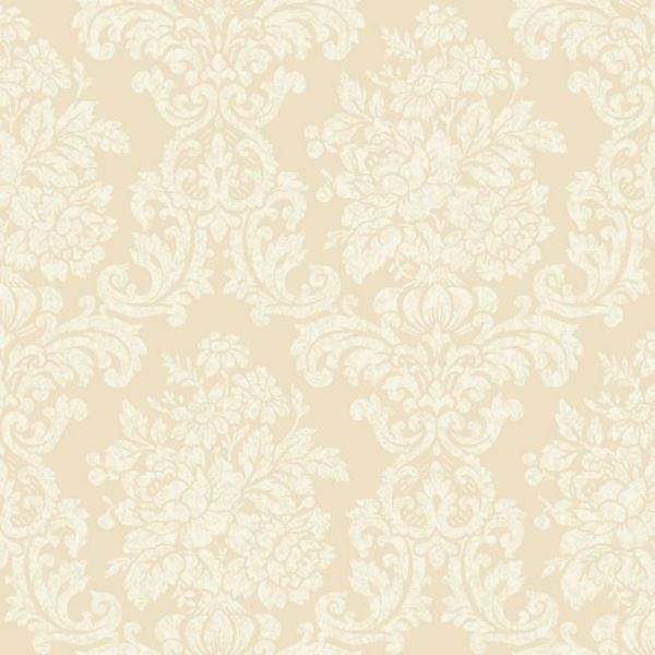 Illume Beige Damask Wallpaper Al13702