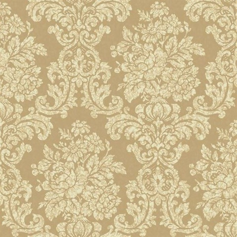 Illume Gold Damask Wallpaper Al13704