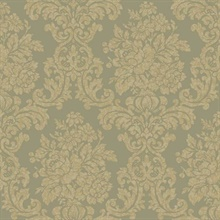 Illume Green Damask Wallpaper