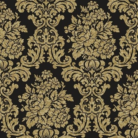 Damask Wall Paper illume black damask wallpaper | al13706