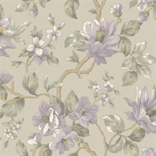 Berkin Grey Large Floral Vine Wallpaper