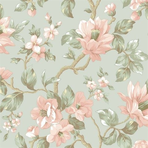 Berkin Blue Large Floral Vine Wallpaper
