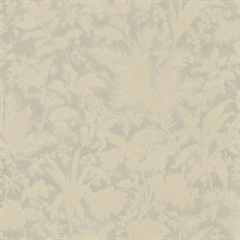 Fauna Grey Silhouette Leaves Wallpaper