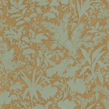 Fauna Brown Silhouette Leaves Wallpaper