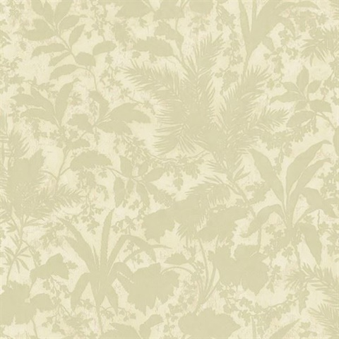 Fauna Olive Silhouette Leaves Wallpaper