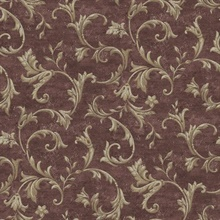 Vlad Purple Acanthus Vine Wallpaper