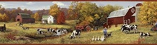 Herman Green Cow Pasture Portrait Border