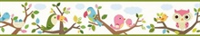 Island Beat Green Forest Friends Scroll Border