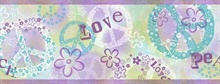 Janis Purple Peace Love Toss Border