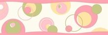 Wobbles Pink Geometric Toss Border
