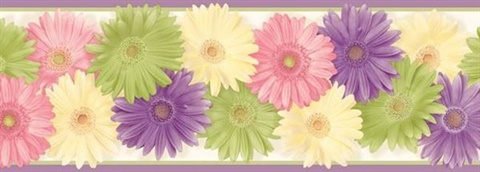 Lakh Purple Daisy Chain Border