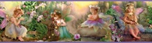 Esmeralda Blue Fairyland Portrait Border