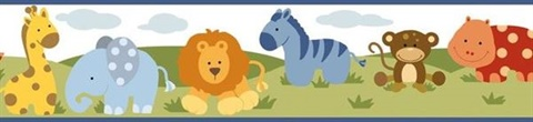 Simba White Jungle Safari Cartoons Border