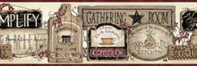 Alfred Red Gathering Room Signs Border