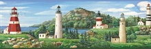 Gilead Green Lake Lighthouse Portrait Border