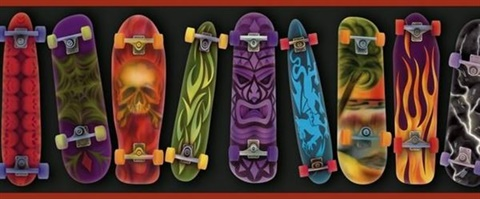 Gerry Red Skateboards Portrait Border