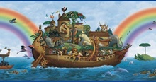 Majesty Blue Noah'S Ark Portrait Border