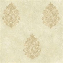 Neutral Baroque Damask
