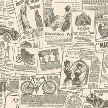 Vintage Magazine Ads on Beige
