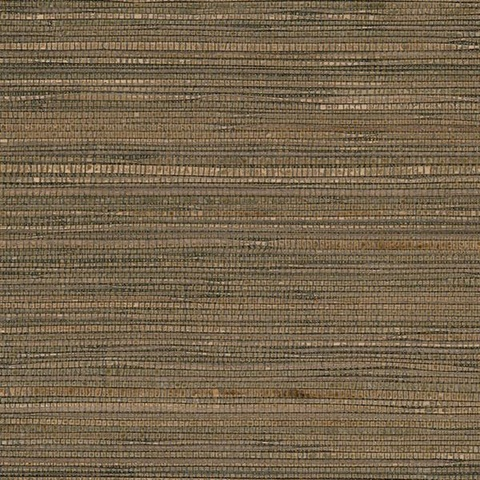 Brown & Black Glittered Grasscloth