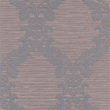 Siri Purple Damask Crepe