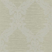 Siri Light Green Damask Crepe
