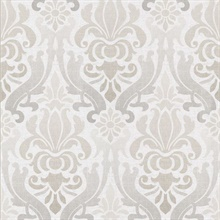 Aquitaine Light Grey Nouveau Damask