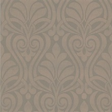 Amiya Brown New Damask