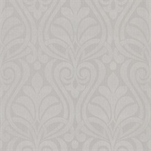 Amiya Silver New Damask