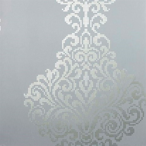 Lux Pewter Metallic Damask