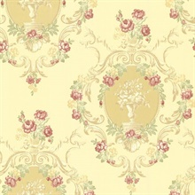 Maybelle Yellow Cameo Damask