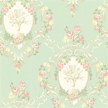 Maybelle Mint Cameo Damask