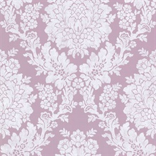 Liza Purple Roselle Damask