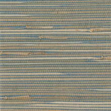 Jissai Mariner Blue Grasscloth