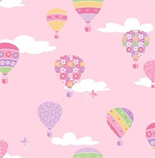 Hot Air Balloons Pink Balloons