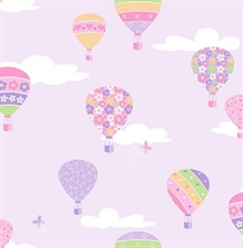 Hot Air Balloons Lilac Balloons