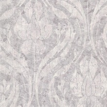 Carrara Lavender Textured Damask