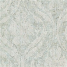 Carrara Light Green Textured Damask