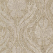Carrara Bronze Textured Damask